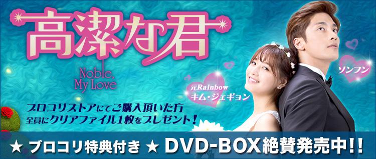 ソンフン主演「高潔な君」DVD